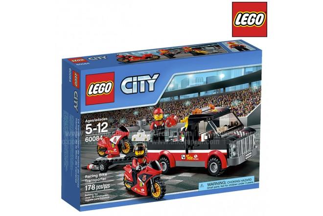 Transporte de la Moto de Carreras LEGO
