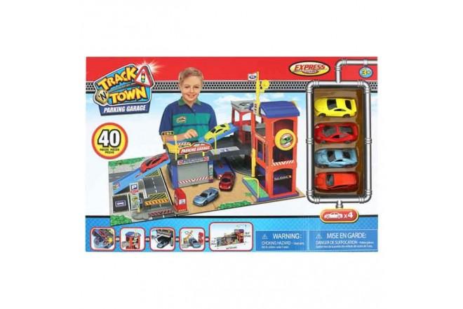 EXPRESS WHEELS Playset Track N Town parking garage