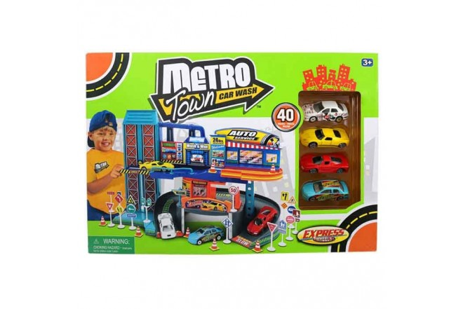 EXPRESS WHEELS Playset Metro town Autolavado