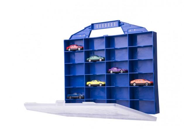 Maletín organizador con 6 carros de juguete Express wheels azul