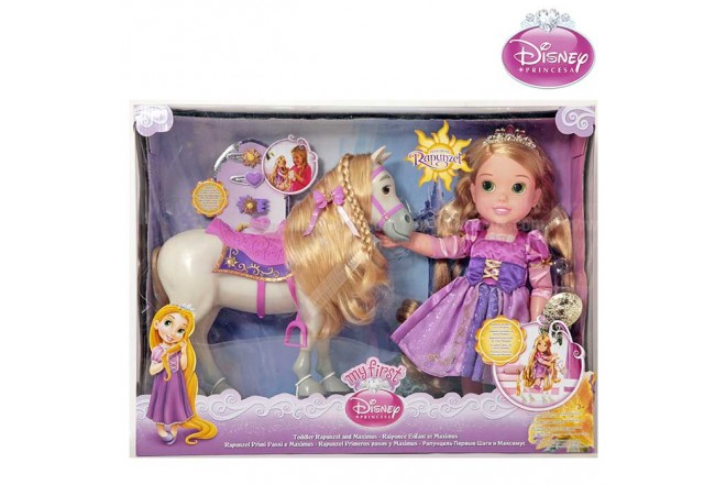 Princesa Rapunzel DISNEY PRINCESA Toddler set con Caballo