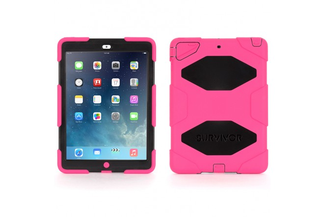 Funda Survivor GRIFFIN iPad Air Rosa/Negro