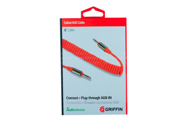 Cable GRIFFIN Flat Uno/Uno 1.82 M Orange