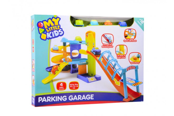 Garaje parqueo Happy Line my little kids 4 carros