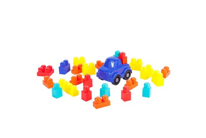 Carro con bloques 25 Piezas