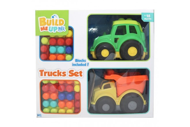 BUILD ME UP MAXI vehículos y fichas de construcción trucks set