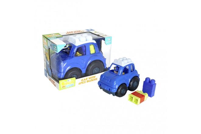 Juguete Carro de Policía 6 Bloques para Bebé HAPPY LINE_4