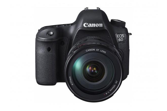 Cámara CANON Profesional EOS 6D Negra + Lente EF 24-105 L IS USM