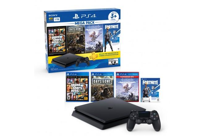 Consola PS4 1TB + 1 Control + 3 Juegos 5