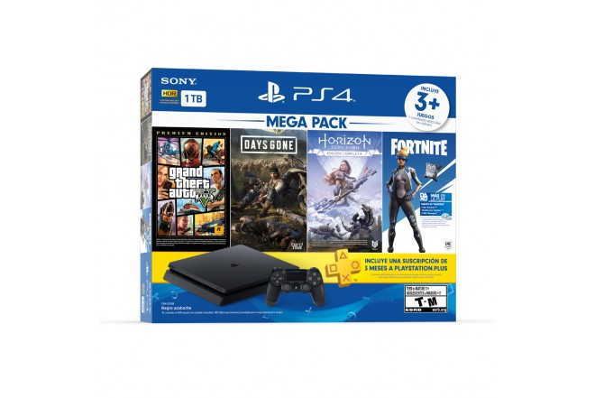 Consola PS4 1TB + 1 Control + 3 Juegos 2