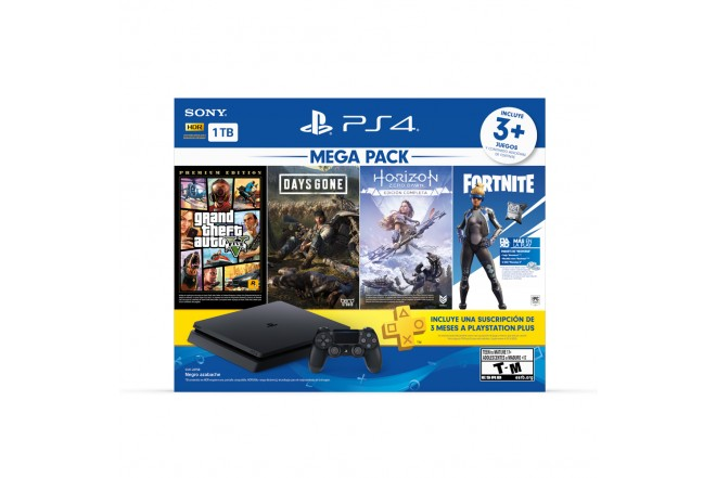 Consola PS4 1TB + 1 Control + 3 Juegos 1