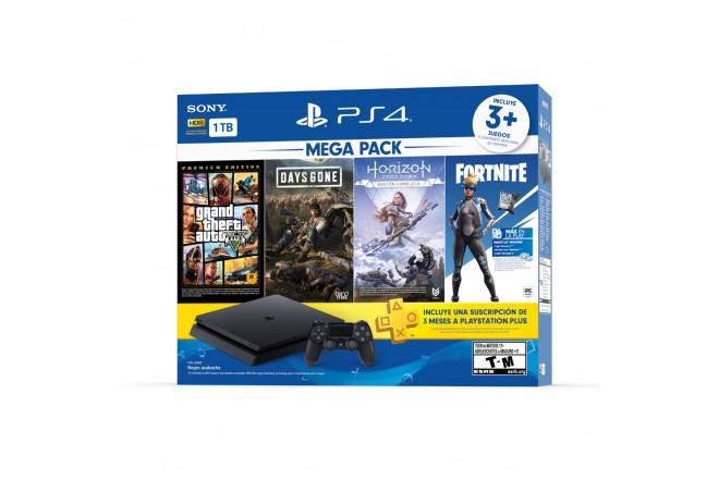Consola PS4 1TB + 1 Control + 3 Juegos 3