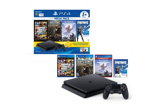 Consola PS4 1TB + 1 Control + 3 Juegos 4