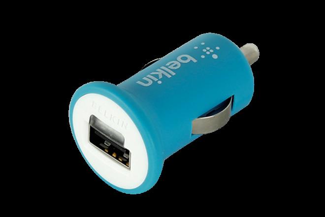 Cargador BELKIN para Carro Micro USB 2.1 - Azul