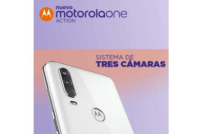 Celular MOTOROLA One Action 128GB Blanco6