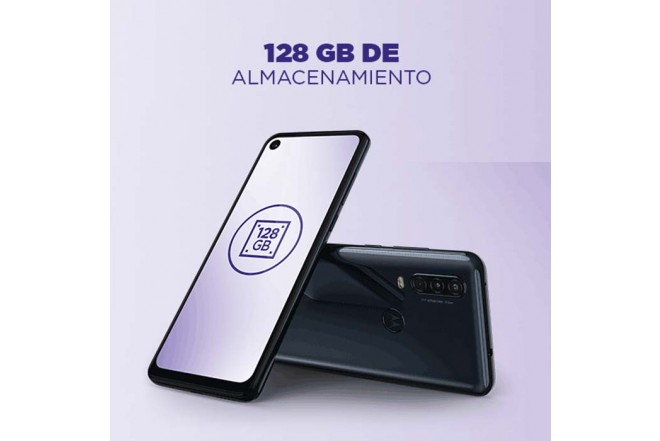 Celular MOTOROLA One Action 128GB Blanco9