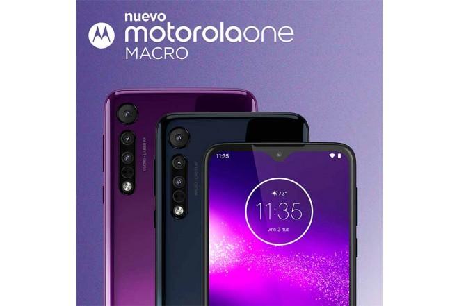 Celular MOTOROLA One Macro 64GB Azul14