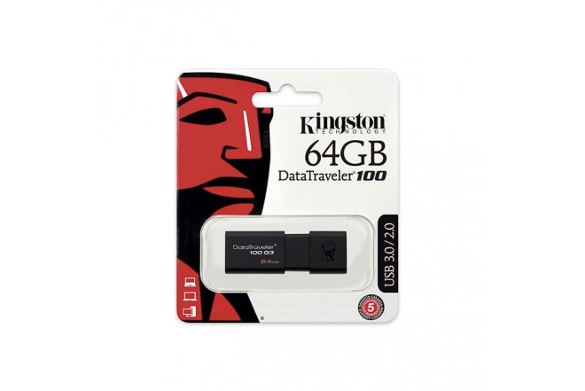 Memoria USB KINGSTON 64 GB 3.0 Retractil
