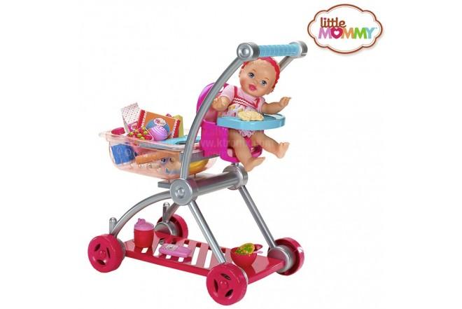 LITTLE MOMMY bebita y carrito de súper