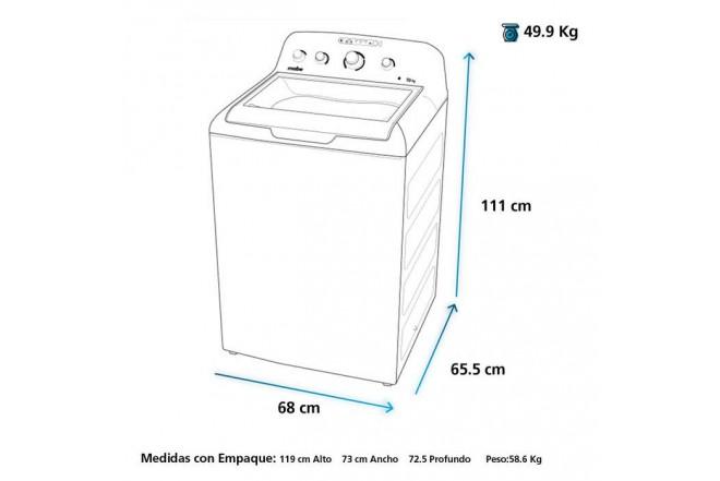 Lavadora MABE Carga Superior 19 Kilogramos LMA79104WGAB0 Gris2