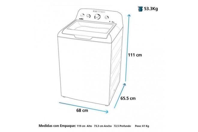 """Lavadora Mabe 24kg LMC74201WGA""""N 102"""