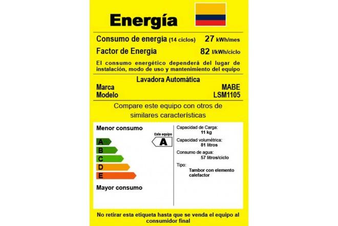 Lavadora / Secadora MABE 1.8KG LSM1105XS Gris5