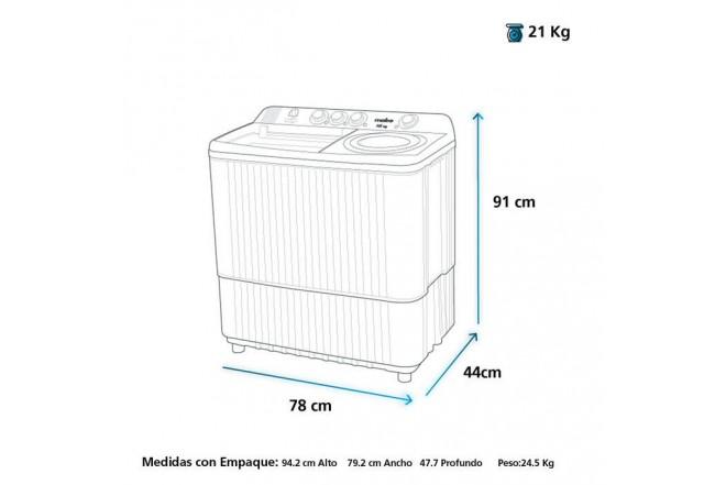 Lavadora MABE Semi Automática 7 Kilogramos LMD7023 Blanco32