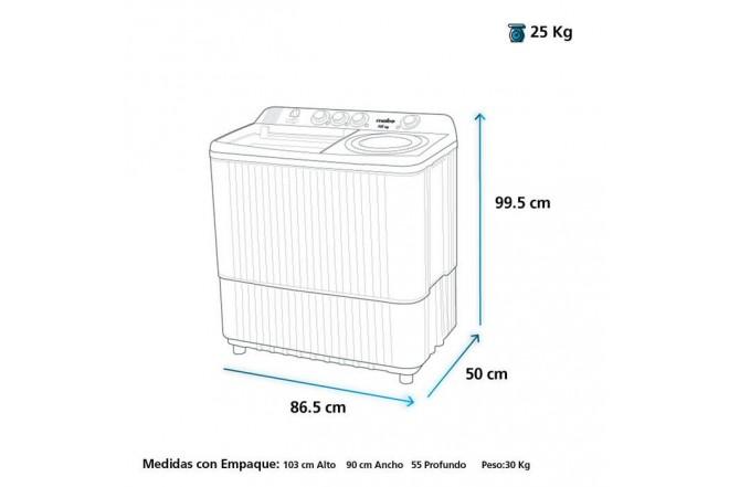 Lavadora MABE Semi Automática 13 Kilogramos LMD3124 Blanco22
