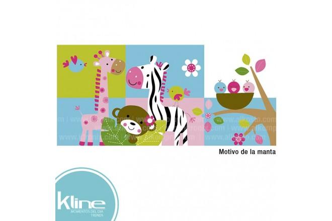 Manta infantil K-LINE Flannel Niña 75x112 cms 330 grms