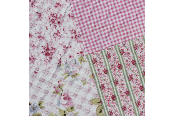Cubrecama doble patchwork flores 8 microfibra 100%