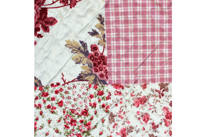 Cubrecama doble patchwork flores 11 microfibra 100%