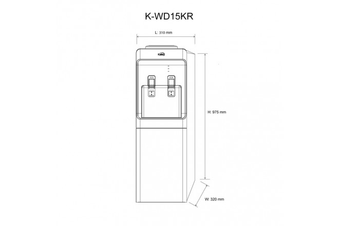 Dispensador Agua KALLEY K-WD15KR2
