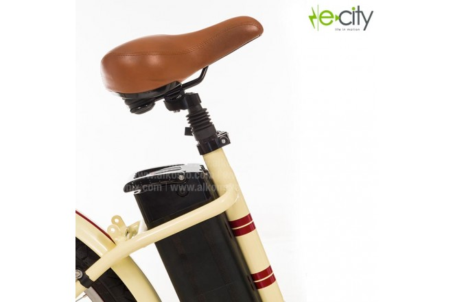 Bicicleta Electrica e-city Classic Cruiser Beige