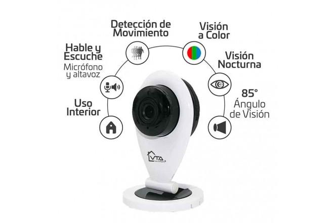 Cámara de Seguridad Fija Wifi Interior Dia/Noche VTA 1080P 3