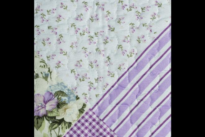 Cubrecama doble patchwork flores 7 microfibra 100%