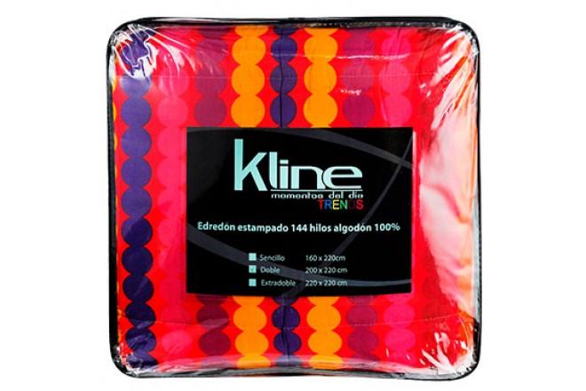 Edredón K-LINE Estampado Circulos Sencillo