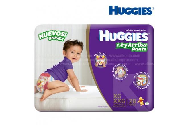 Pañal HUGGIES Up & Go Talla XG/XXG Caja 28