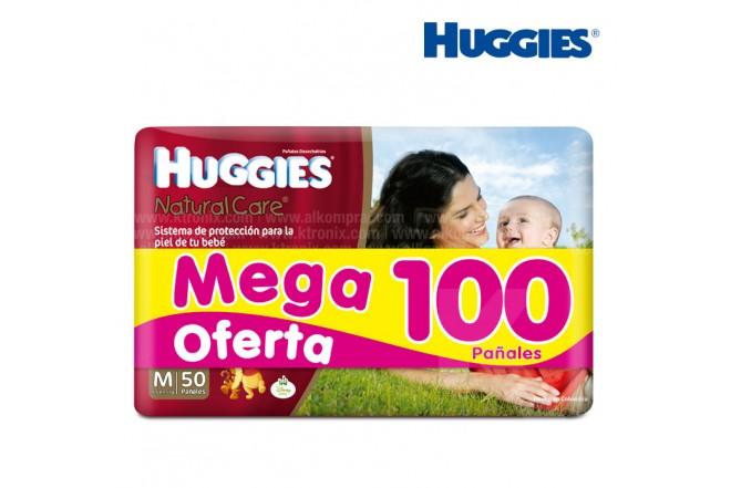 Pañal HUGGIES Natural Care Talla M Caja 100