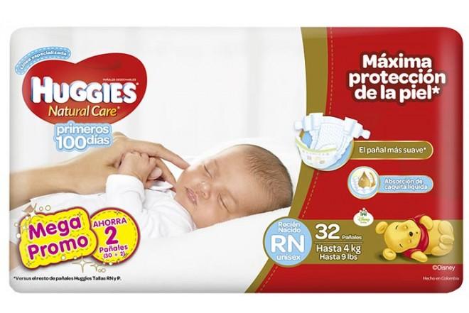 98eba76a Pañales HUGGIES Natural Care Recién Nacido Pague 30 Lleve 32 Alkosto ...