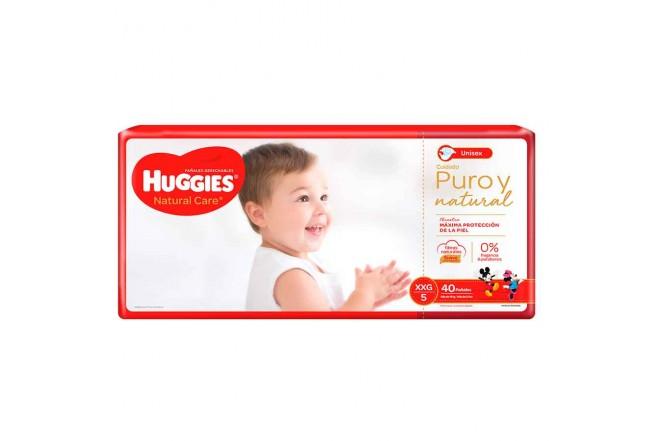 Pañal HUGGIES Natural Care XXG x40 unidades