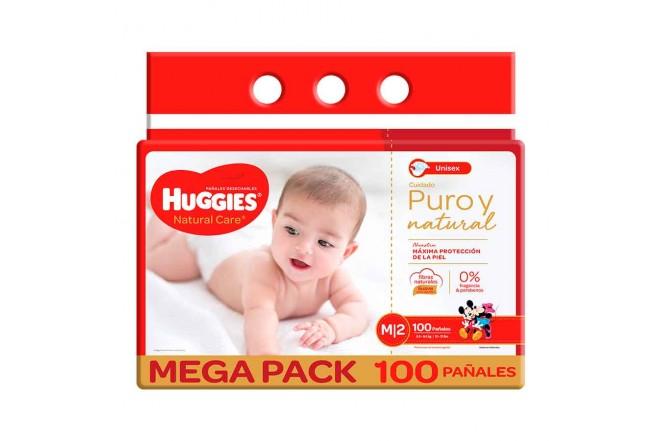 Pañal HUGGIES Natural Care M x100 unidades