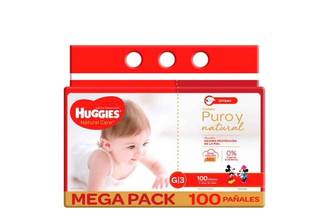 Pañal HUGGIES Natural Care G X100 unidades