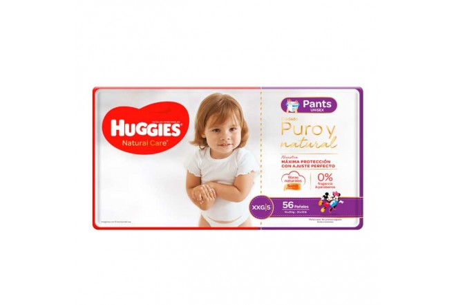 Pants HUGGIES Natural Care XXG x56 Unidades