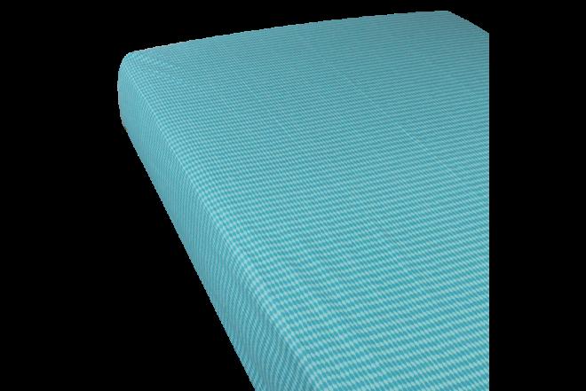 Juego de cama estampado ikat turqueza doble 144 hilos algodón/poliester