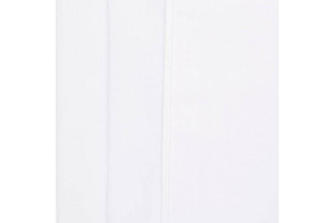 Sábana Plana K-LINE Extradoble Sesgo Blanco 144 hilos