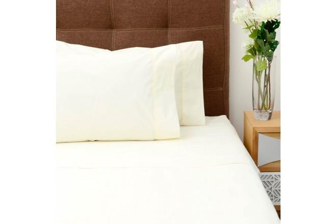 Juego de cama K-LINE Extradoble Sesgo Beige 144 hilos