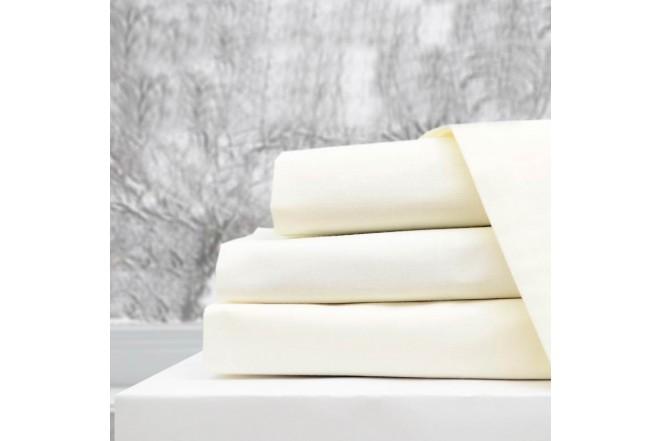 Semijuego de cama K-LINE Extradoble Ajustable Beige 144 hilos