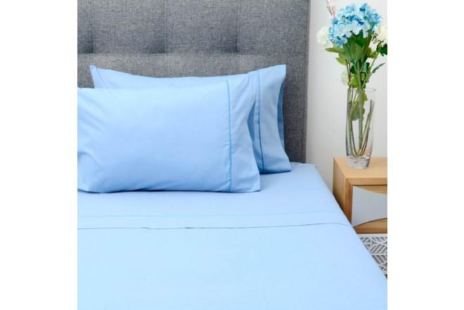 Juego de cama K-LINE Extradoble Sesgo Azul 144 hilos