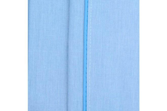 Sábana Ajustable K-LINE Sencilla Sesgo Azul 144 hilos