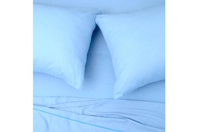 Sábana Plana K-LINE Doble Sesgo Azul 144 hilos